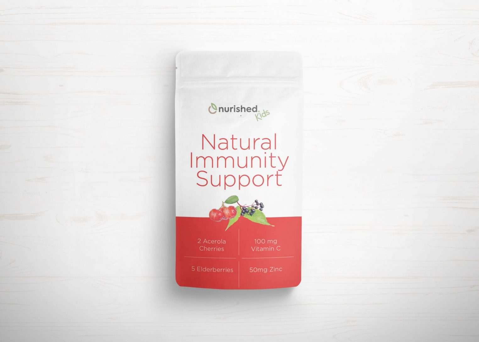 Red Pouch Branding Mockup