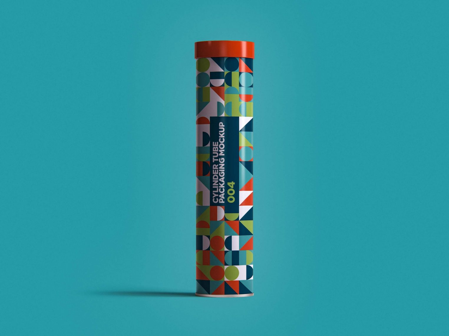 Colorful Cylindrical Tube Packaging Mockup