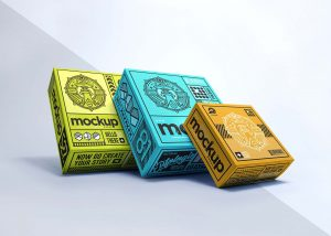 Realistic_Packaging_Box_Mockup_Design_Isolated