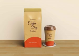 Royal Coffee Pouch Packaging Mockup