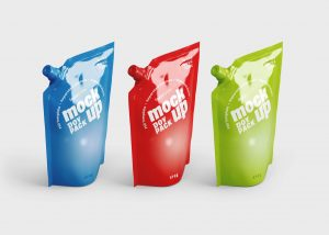 Sauce Stand Up Pouch Mockup